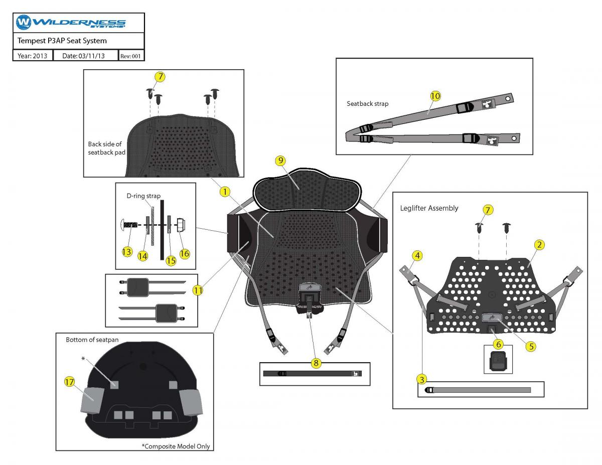 Tempest Phase 3 Air Pro Seat System schematic