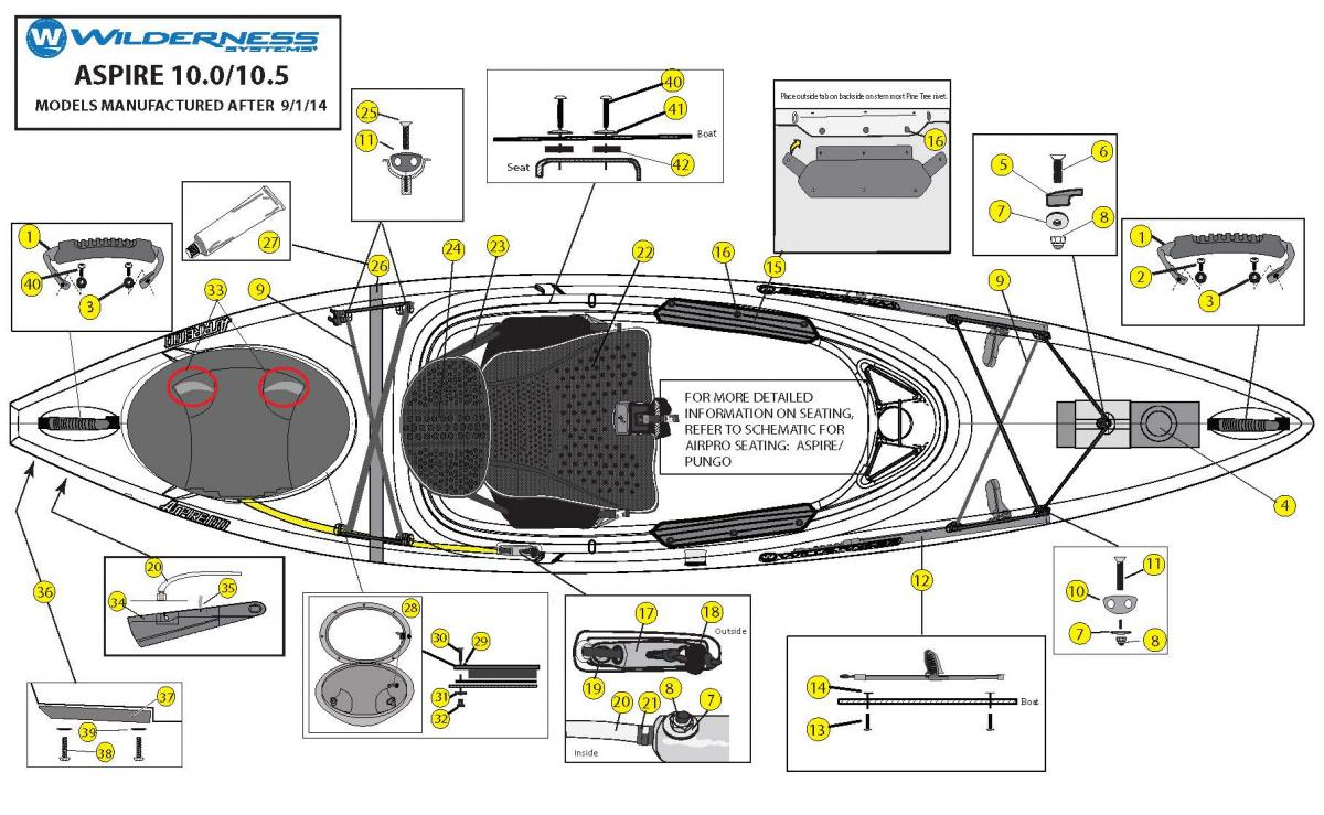 Aspire 10.0 & 10.5 boat schematic
