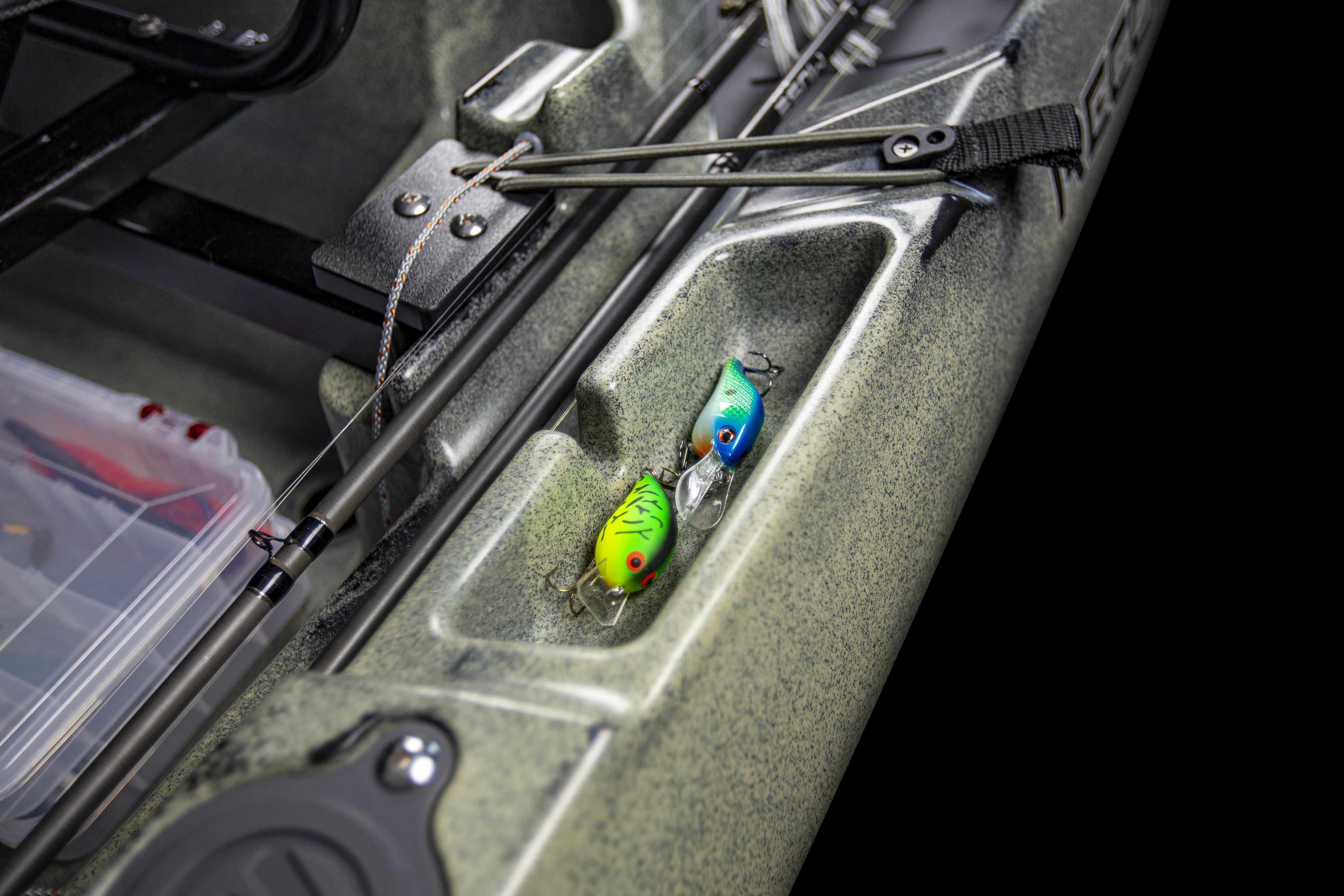 Midship Storage Tray on Recon HD Kayak with tackle