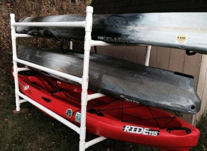 Build A Simple Kayak Rack From Pvc Wilderness Systems Kayaks Usa Canada