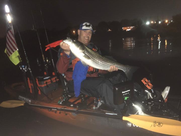 kayak striper fishing