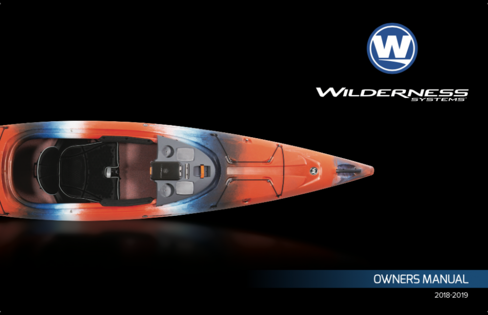 Cover of the Wilderness Systems Kayak Owner's Manual