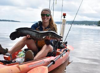 kayak fishing snakehead