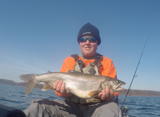Lake Trout Kayak Fishing